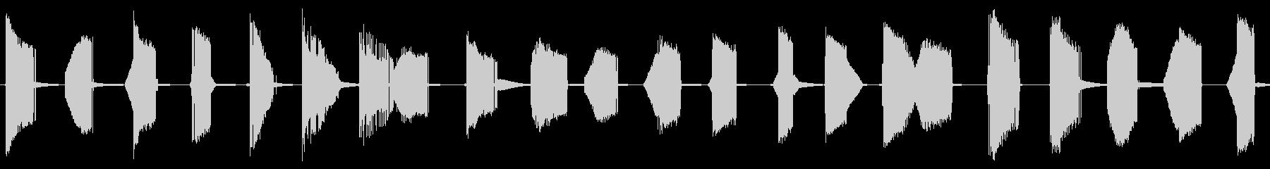 メタリックな昆虫の動きの未再生の波形