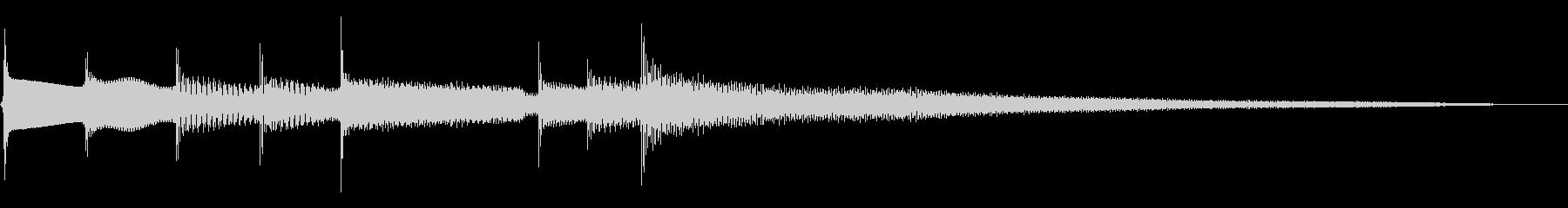 ポーンという響きの幻想的なジングルの未再生の波形