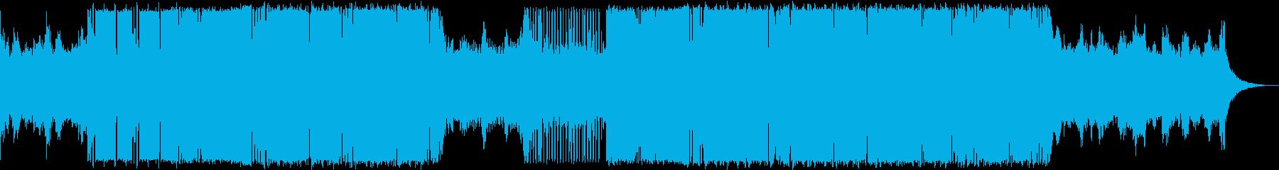 ダークで緊迫感のあるトラップミュージックの再生済みの波形