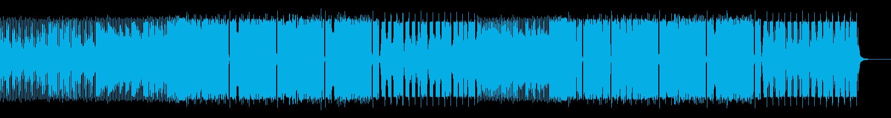 壮大なシンセサイザーのEDMの再生済みの波形