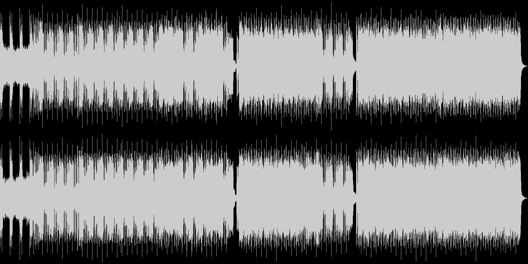 ヘビーなギターとモダンなエレクトロロックの未再生の波形