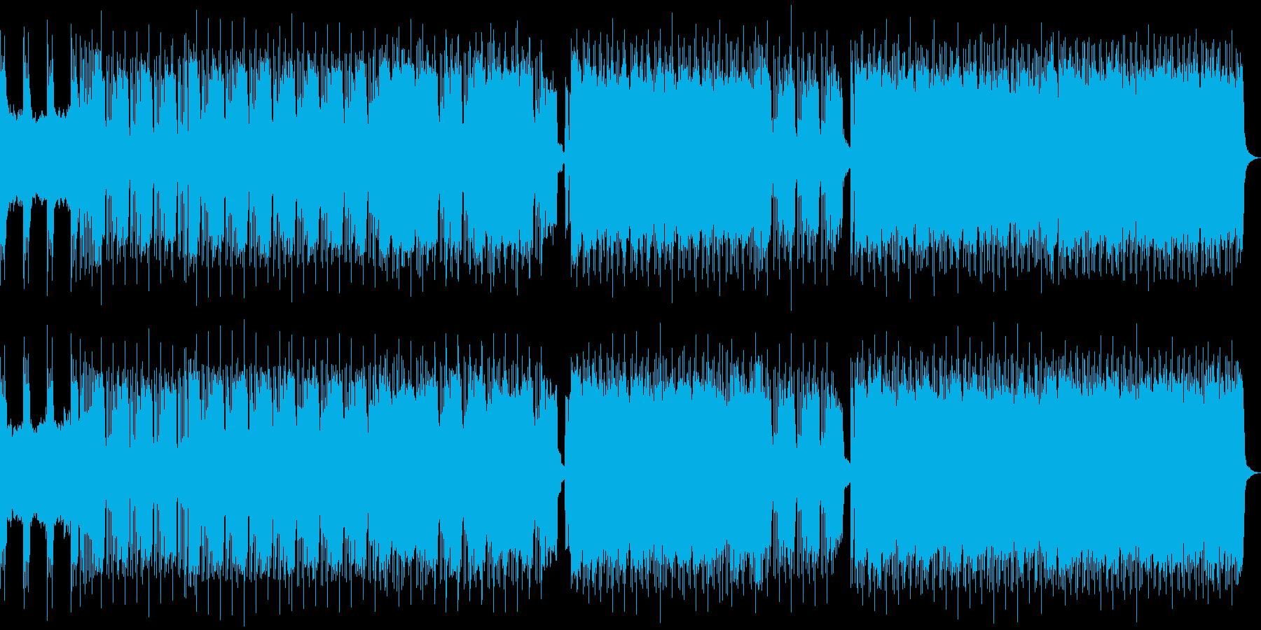 ヘビーなギターとモダンなエレクトロロックの再生済みの波形