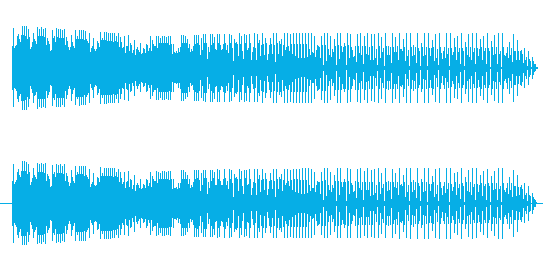 一撃アクセントにの再生済みの波形