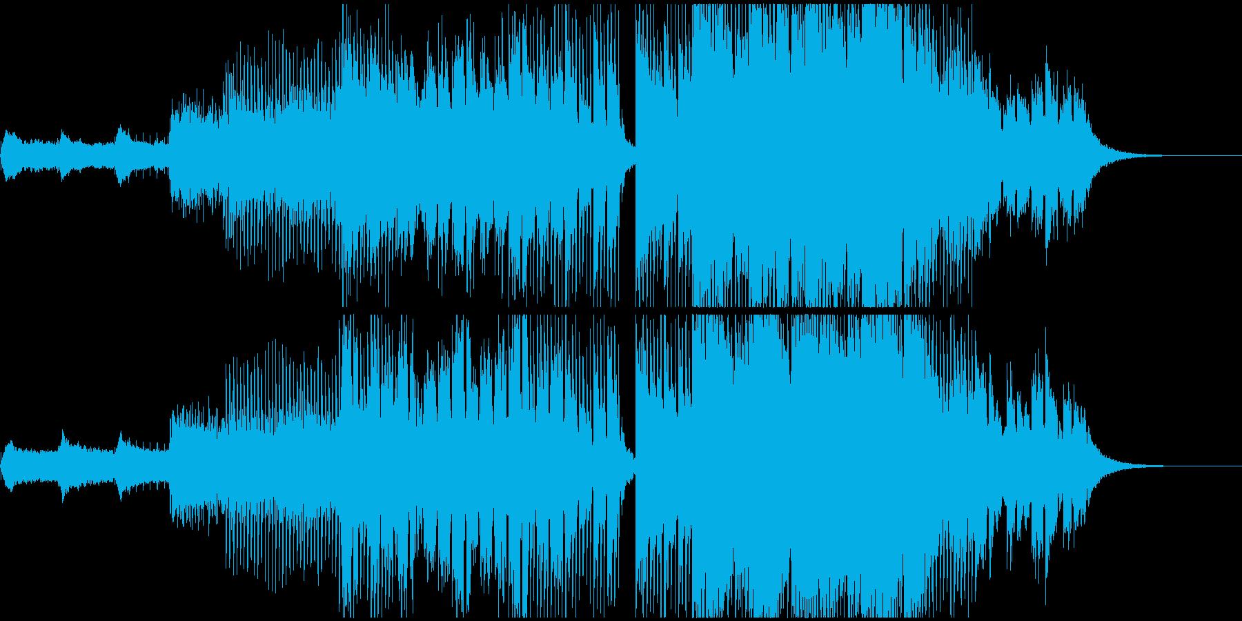 期待と不安感、繊細なピアノとシンセの音の再生済みの波形