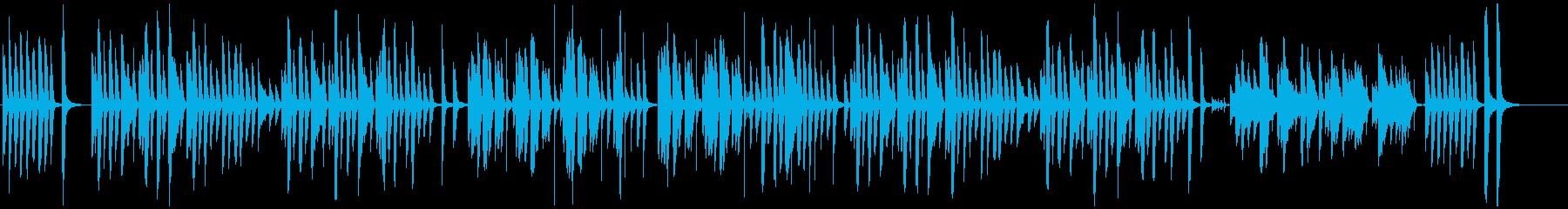 ゆったりほのぼの癒しの日常BGMの再生済みの波形