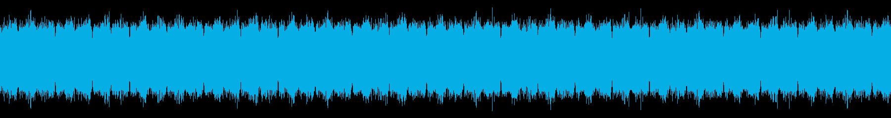 ホラー、不気味なストリングス(効果音増)の再生済みの波形