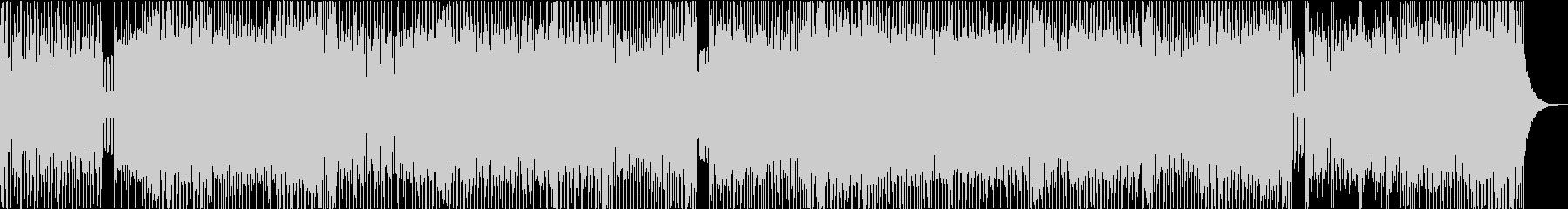懐かしい80s ローファイ・ユーロビートの未再生の波形