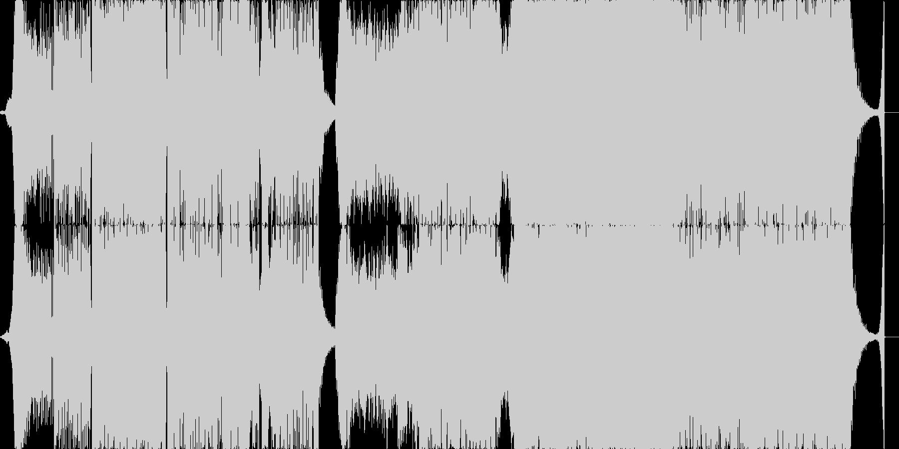 オープニングを彩る曲の未再生の波形