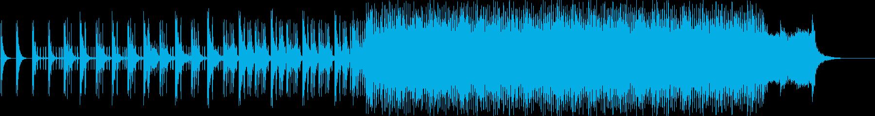 追跡シーン向けの緊迫感あるミニマルテクノの再生済みの波形