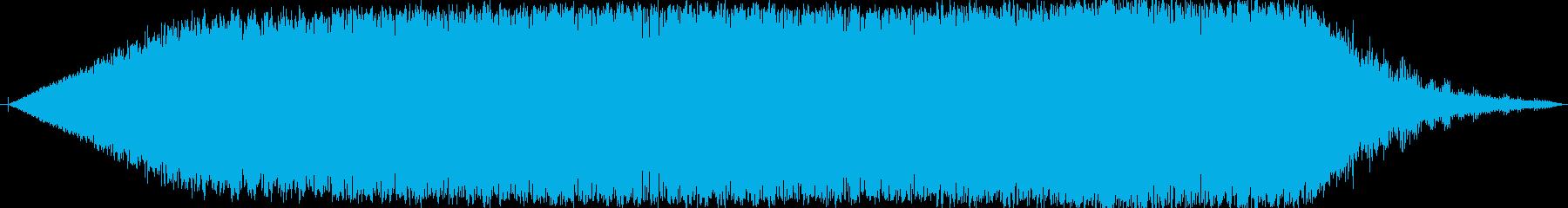 機械的なじゅーわんと言う音です。の再生済みの波形