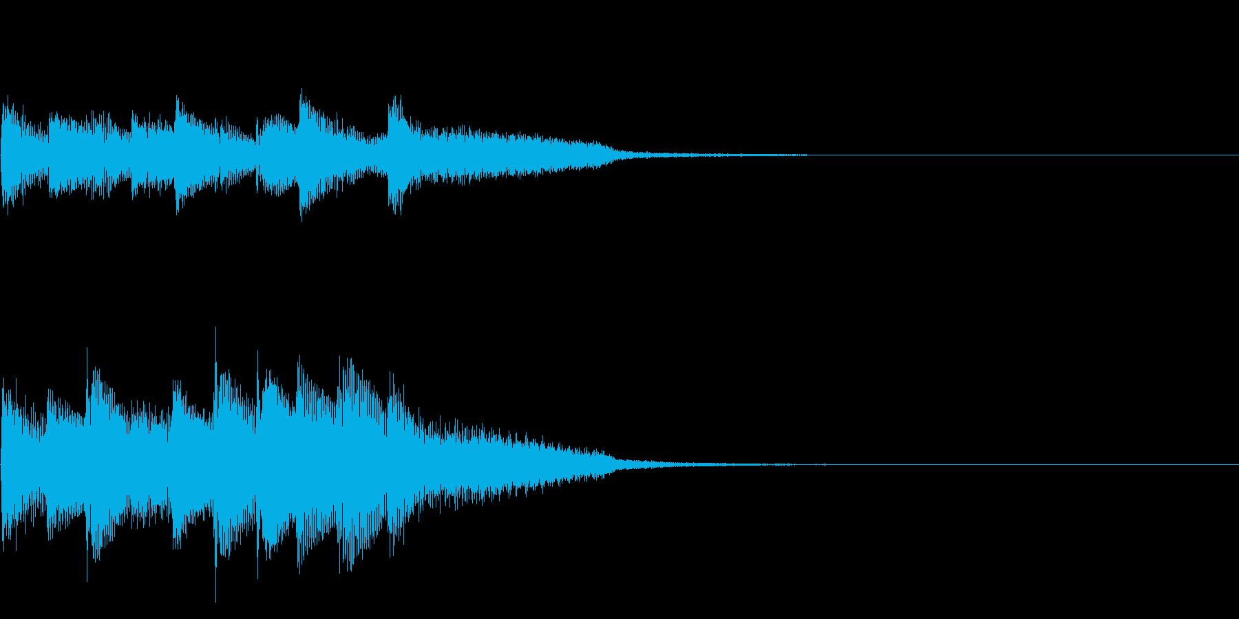 楽しく上昇しているようなピアノのジングルの再生済みの波形