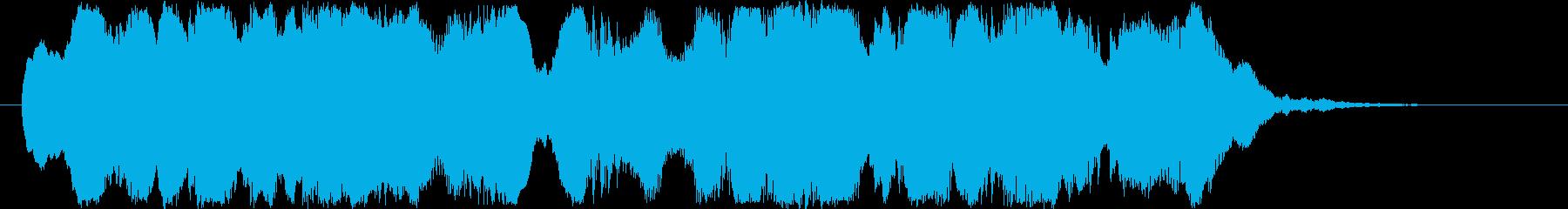 シリアスなシーンの始まりに合うBGMの再生済みの波形
