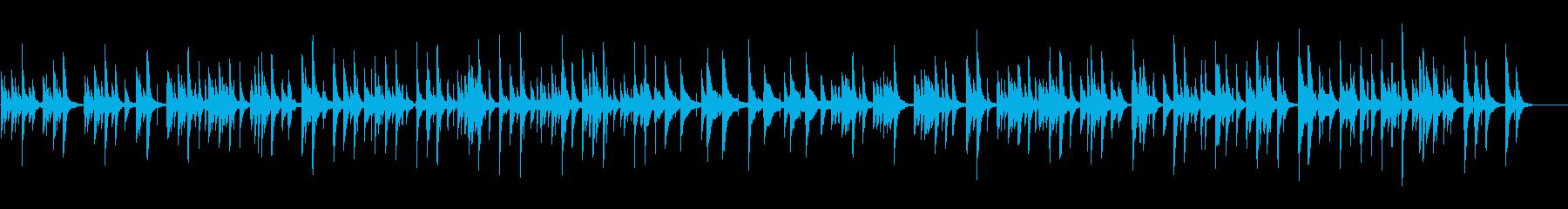 ゆったりと落ち着いたおふざけBGMの再生済みの波形