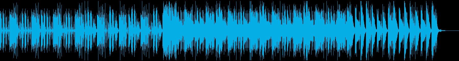 スリリングなシーンに適した電子音楽の再生済みの波形