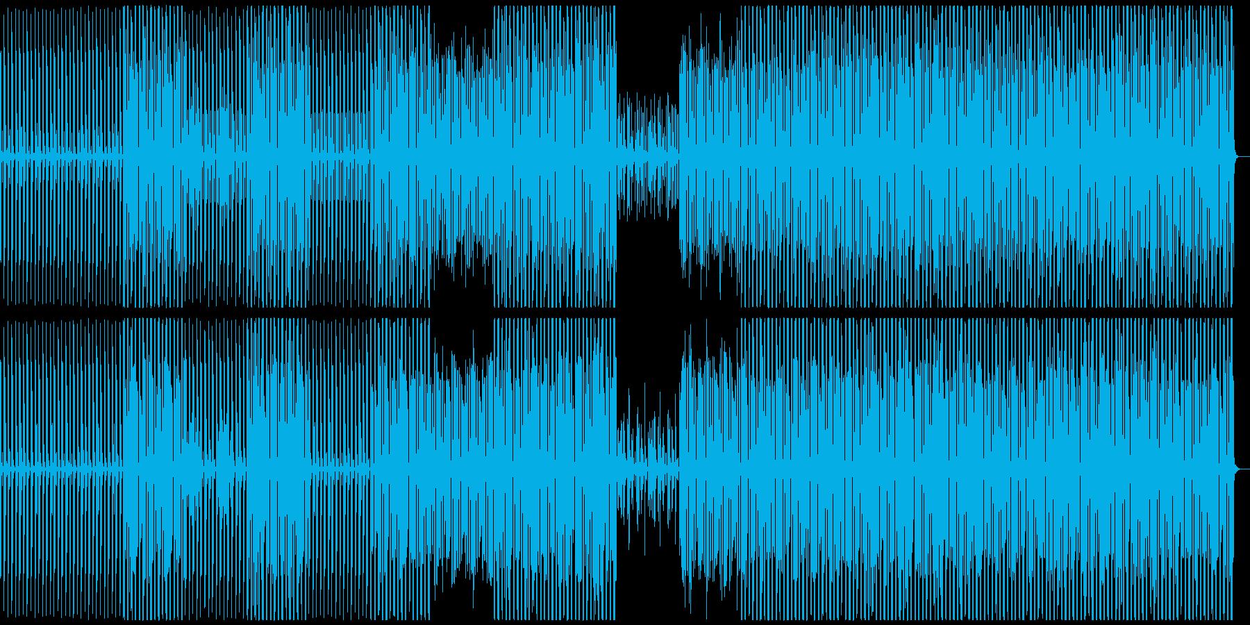 パーカッション、オーケストラ、四つ打ちの再生済みの波形