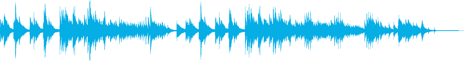 ジブリ風の幻想的なピアノバラードの再生済みの波形