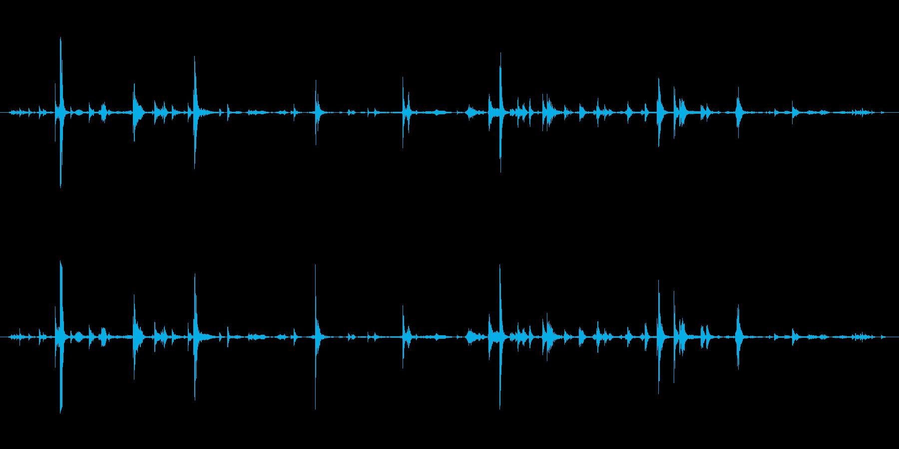 メタル プレートへこみ処理01の再生済みの波形