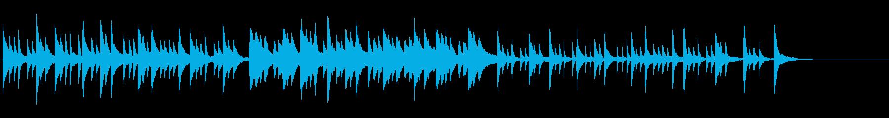 ピアノソロによるグレゴリオ聖歌の再生済みの波形