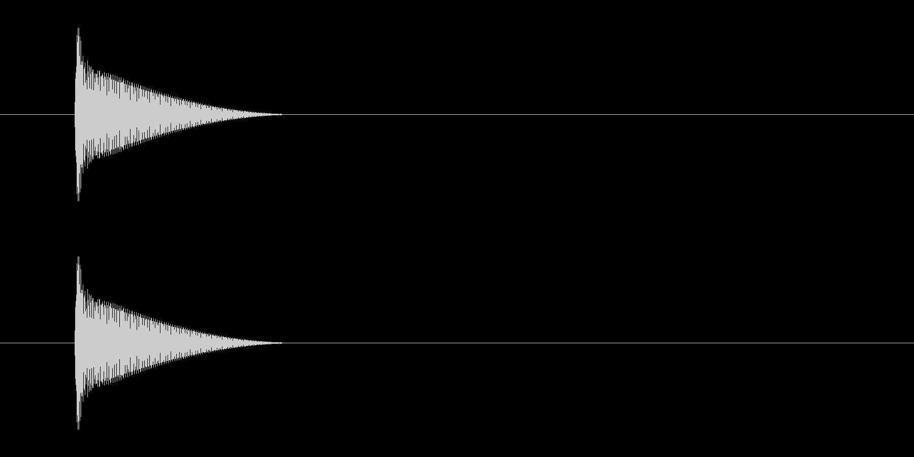 「ピ」決定 カーソル移動 メニューの未再生の波形