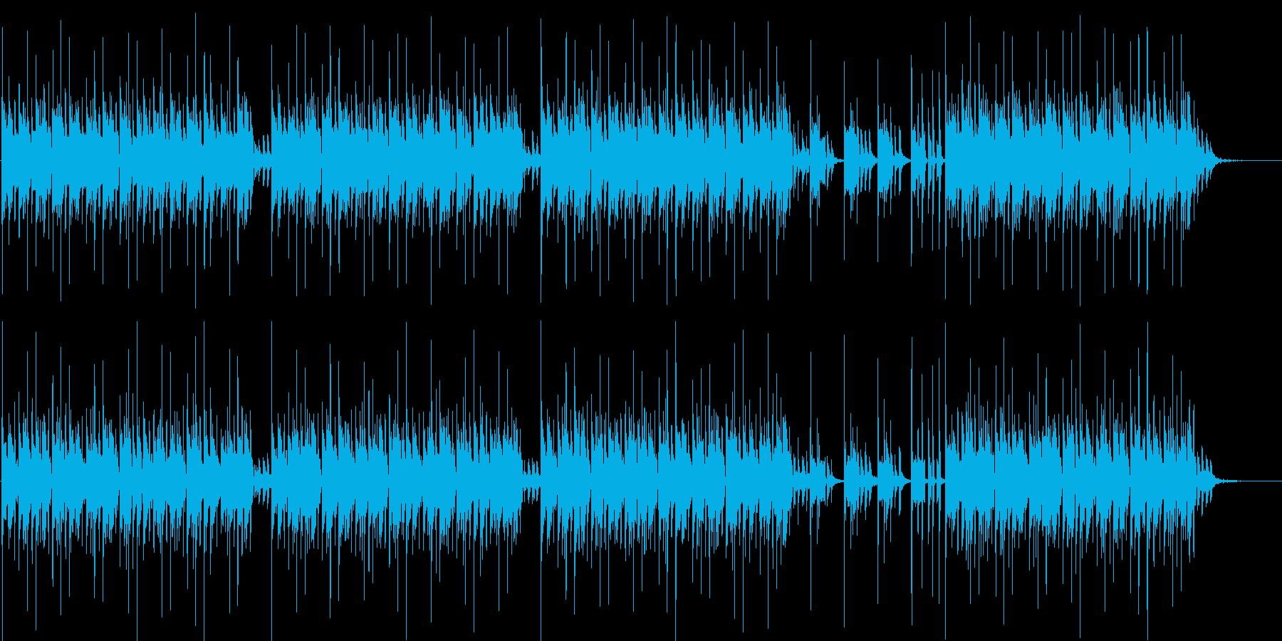 エレクトリックなリズムのBGMの再生済みの波形