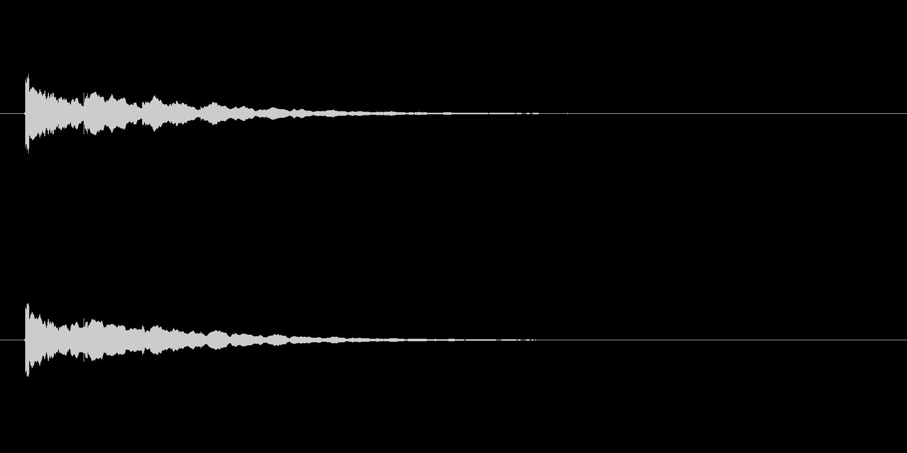 【アクセント28-1】の未再生の波形