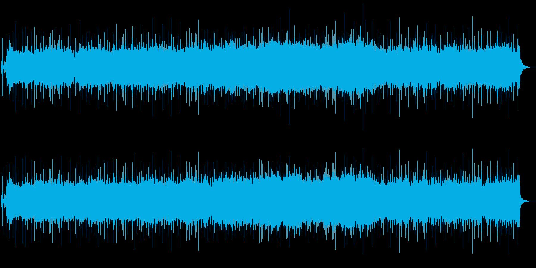優しいシンセとシャッフルビートの再生済みの波形