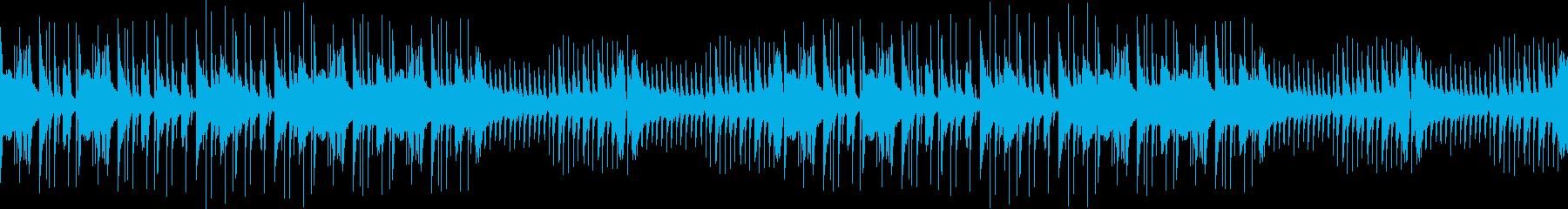 おしゃれ・モダン・ループジングルの再生済みの波形