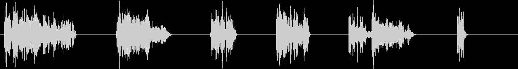 SF要素-6つの効果;メタリックス...の未再生の波形