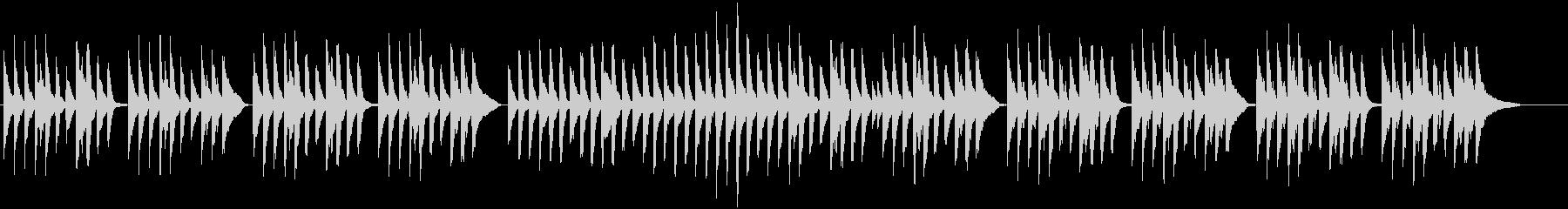 ピアノとピチカートの可愛いワルツの未再生の波形