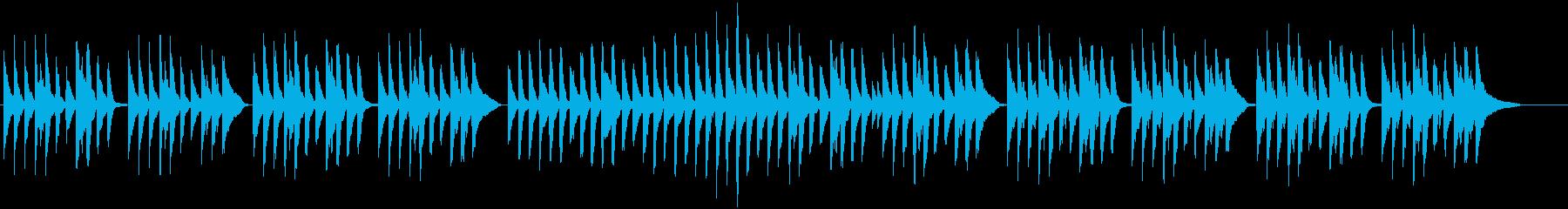 ピアノとピチカートの可愛いワルツの再生済みの波形