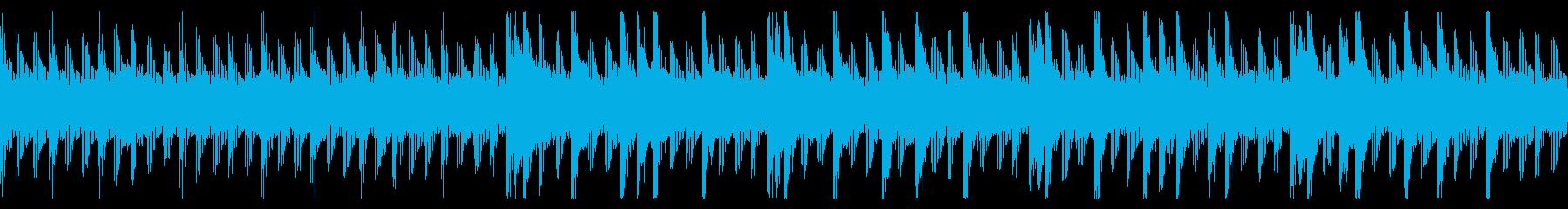 焦りや不安を感じるチップチューンBGMの再生済みの波形