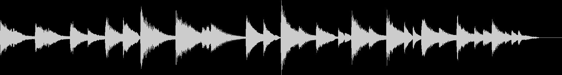 【しっとり系】30秒ピアノソロの未再生の波形