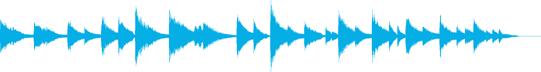 【しっとり系】30秒ピアノソロの再生済みの波形