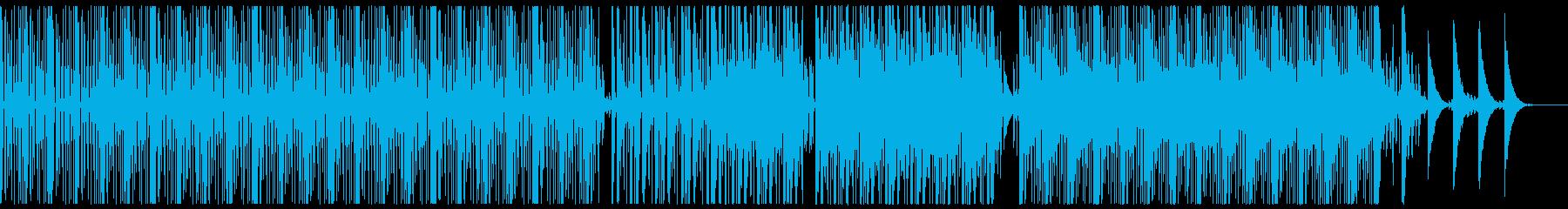 ちょっと切ない感じのビートミュージックの再生済みの波形