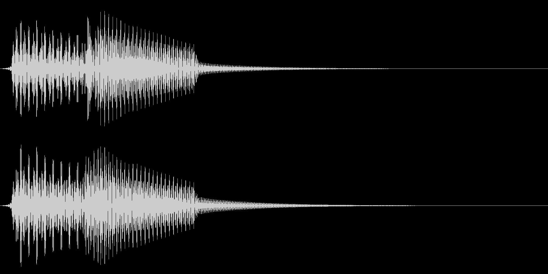 エラー/シンプル/確認の未再生の波形
