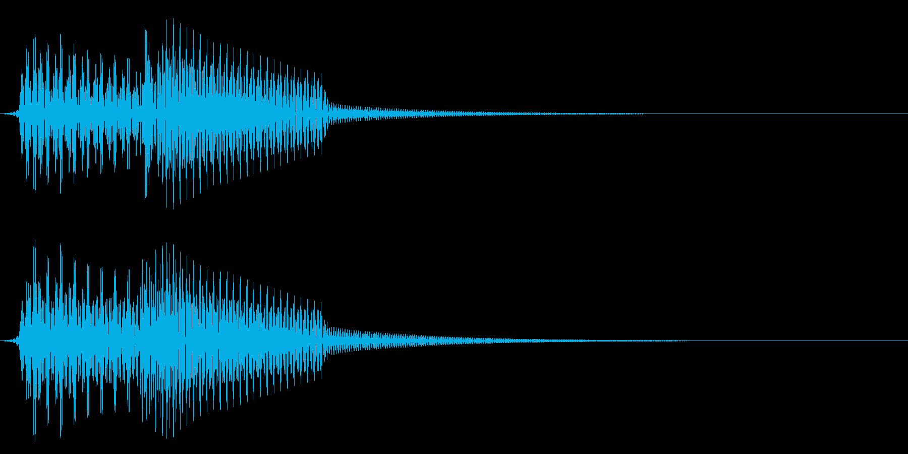 エラー/シンプル/確認の再生済みの波形