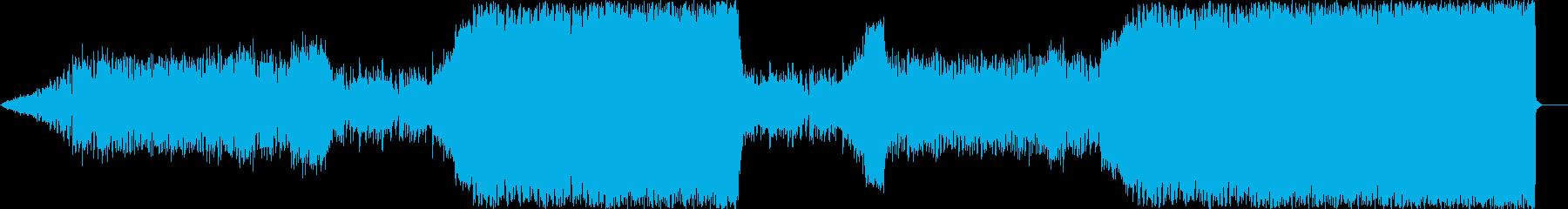 民族楽器 + テクノ音楽の再生済みの波形