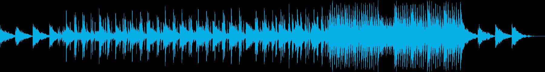 切ない雰囲気がして後半倍速になる曲の再生済みの波形