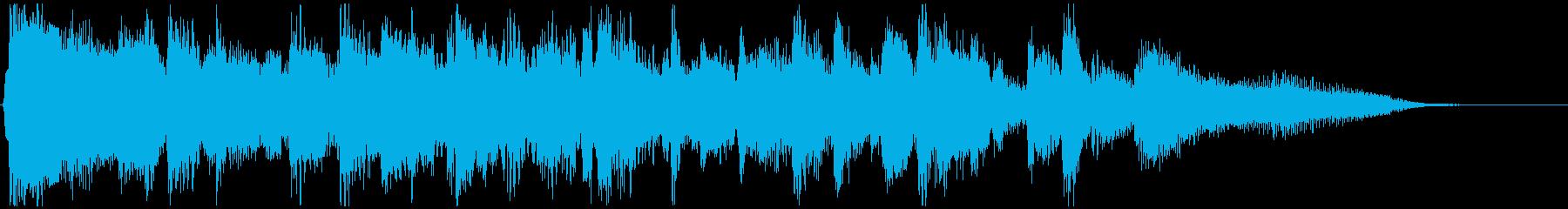 スタイリッシュなジャズジングル◆10秒の再生済みの波形