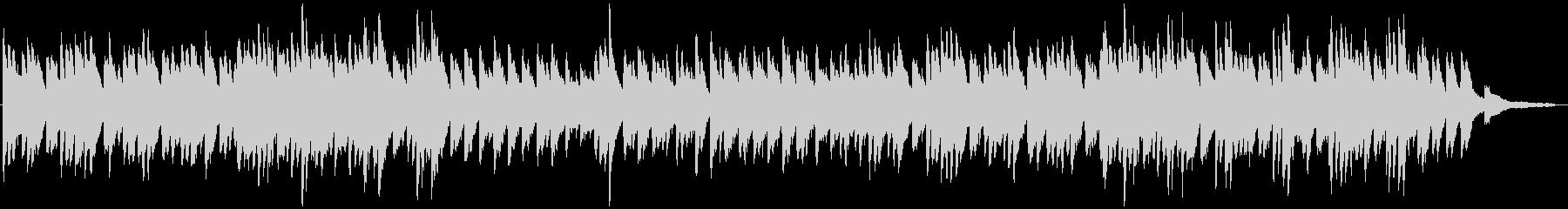 耳に残るファンタジックピアノの未再生の波形