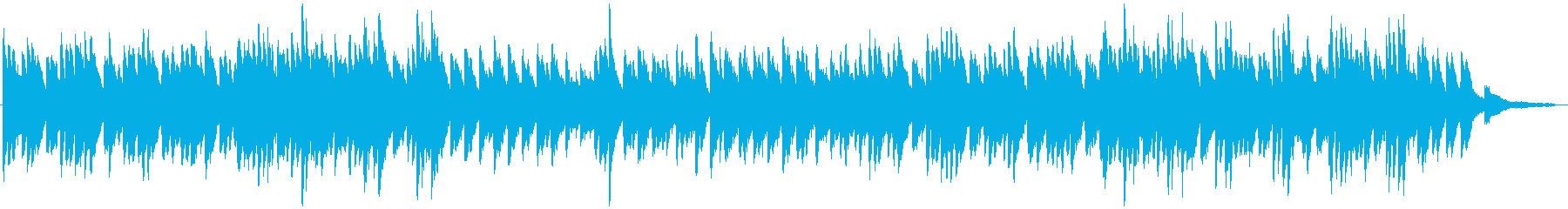 耳に残るファンタジックピアノの再生済みの波形