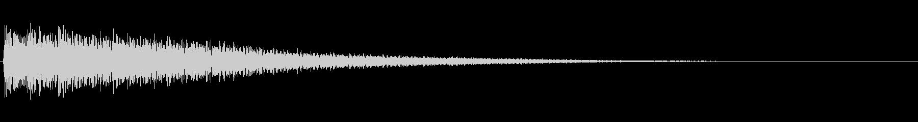シンプルなピアノ効果音 シャラーンの未再生の波形