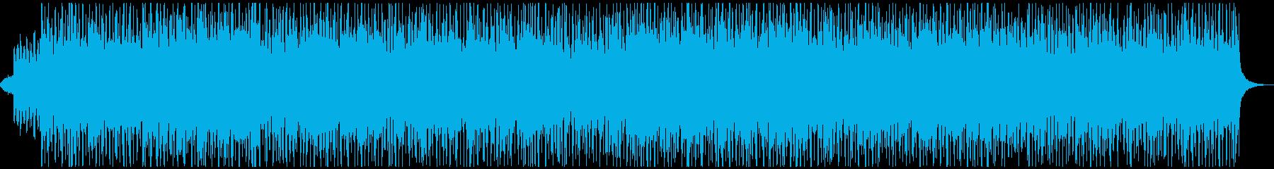 ジャジーなピアノとシンセのスイングの再生済みの波形
