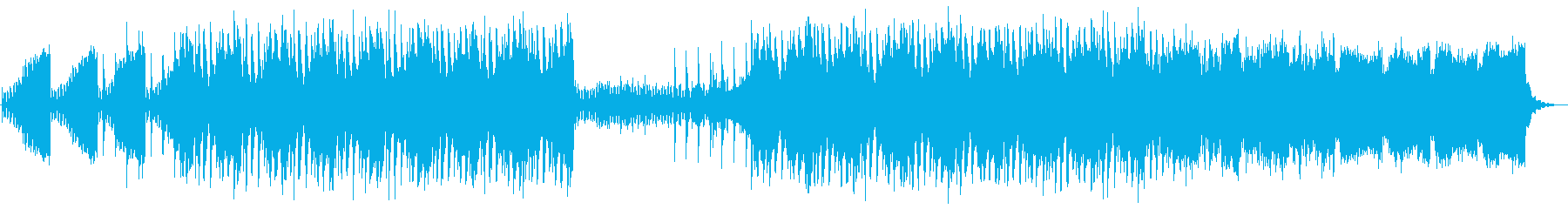 Clean and futuristic electro's reproduced waveform