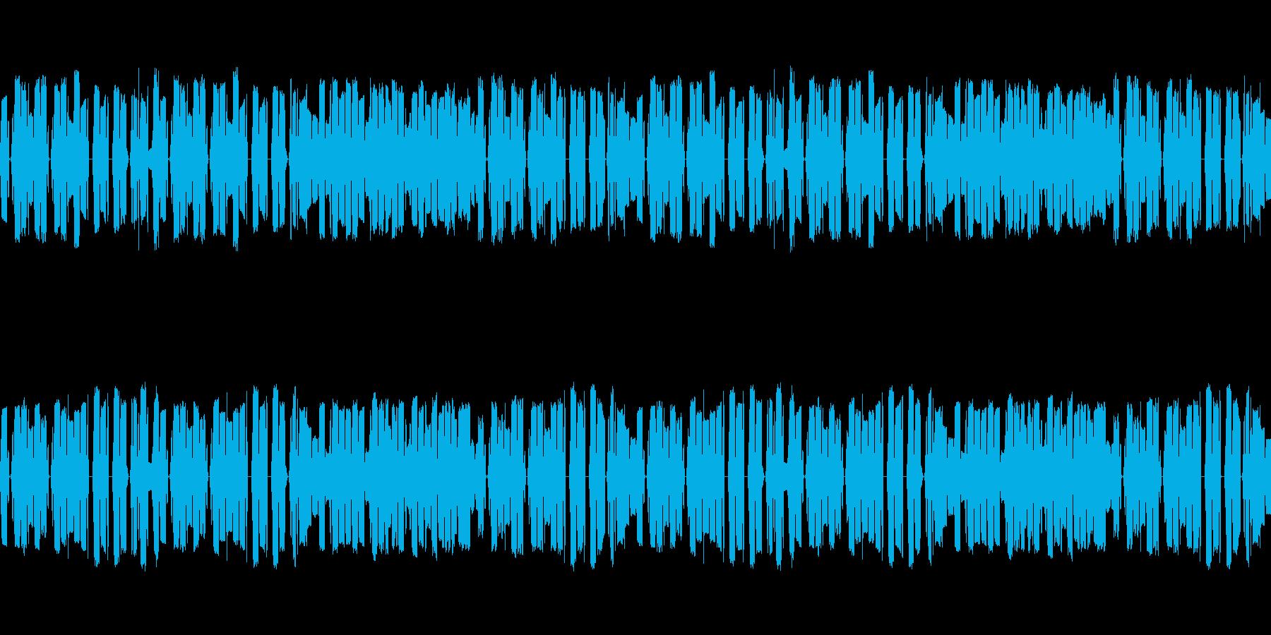 ほのぼのとした海岸のファミコンワルツの再生済みの波形