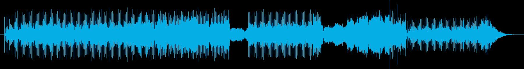 レトロゲームミュージック風エレクトロニカの再生済みの波形