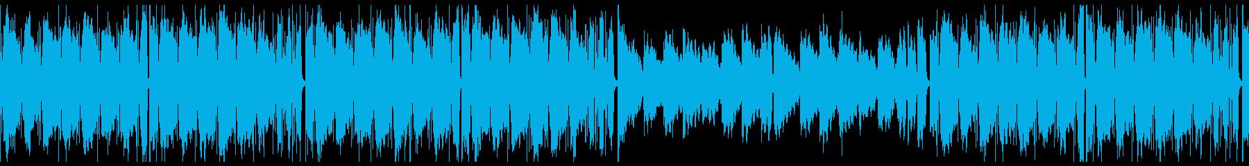 ループ/夜更かしlo-fi曲002の再生済みの波形