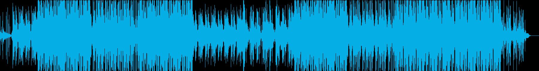 綺麗でモダンな和風BGMの再生済みの波形