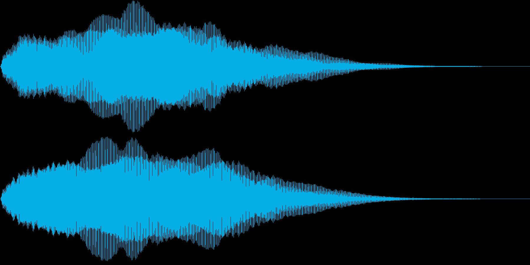 SFテイストなタイトルシーンの再生済みの波形