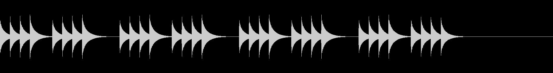 柔らかいコール音01の未再生の波形